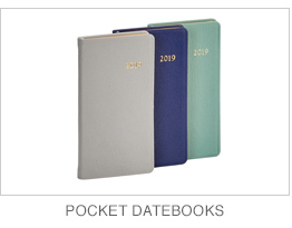 2019 Leather Pocket Datebooks