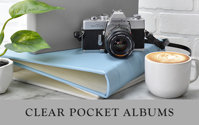 Clear Pocket Leather Albums