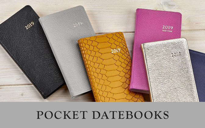 2019 Leather Pocket Datebooks