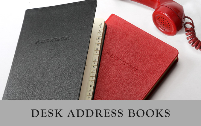 Leather Pocket Address Books
