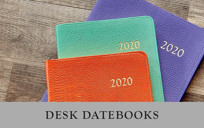 2019 Leather Desk Datebooks