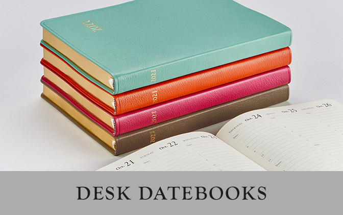 2019 Leather Desk Datebooks