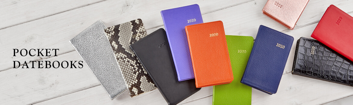 Leather Pocket Datebooks