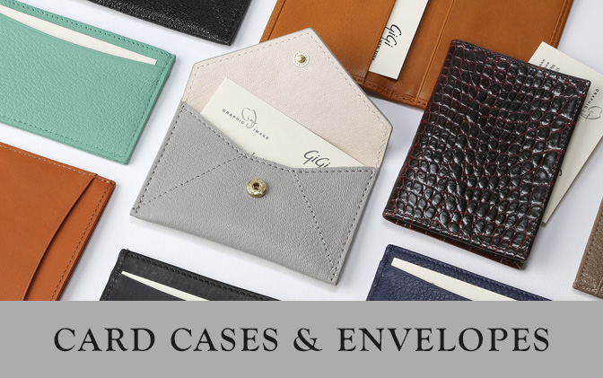 Leather Card Cases and Envelopes
