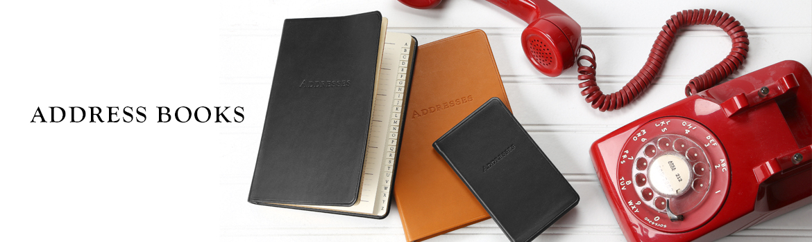 graphic image leather desk address books