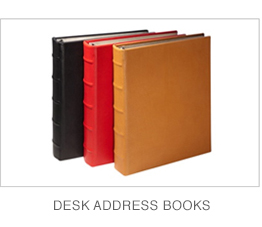 Leather Desk Address Books