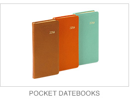 2015 Leather Pocket Datebooks