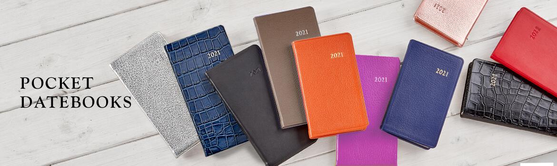 Leather Pocket Datebooks