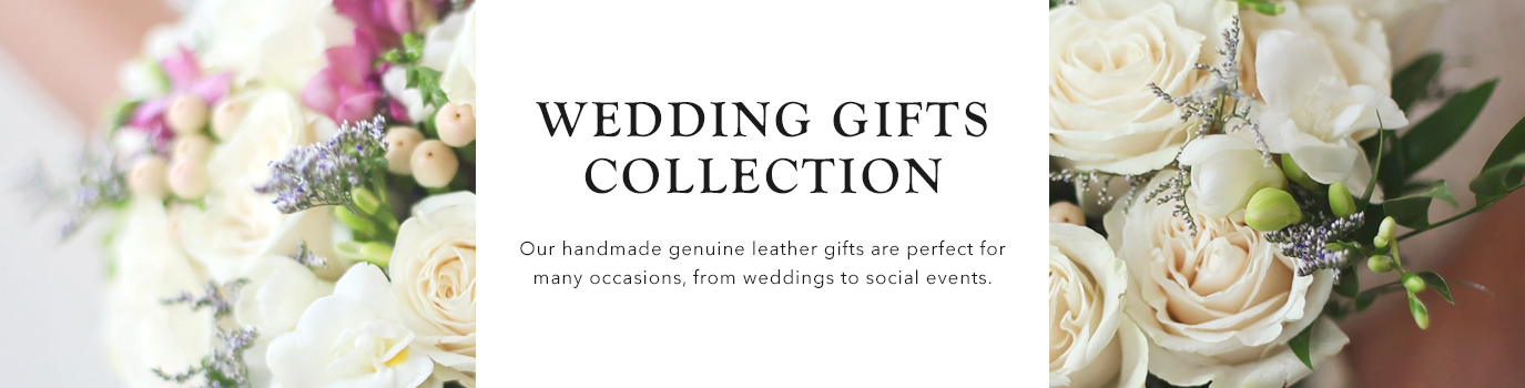 Personalizable Leather Wedding Gifts