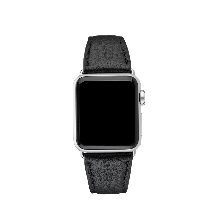 38mm Apple Watch Band Black Pebble Grain AWS-38MS-TIM-BLK