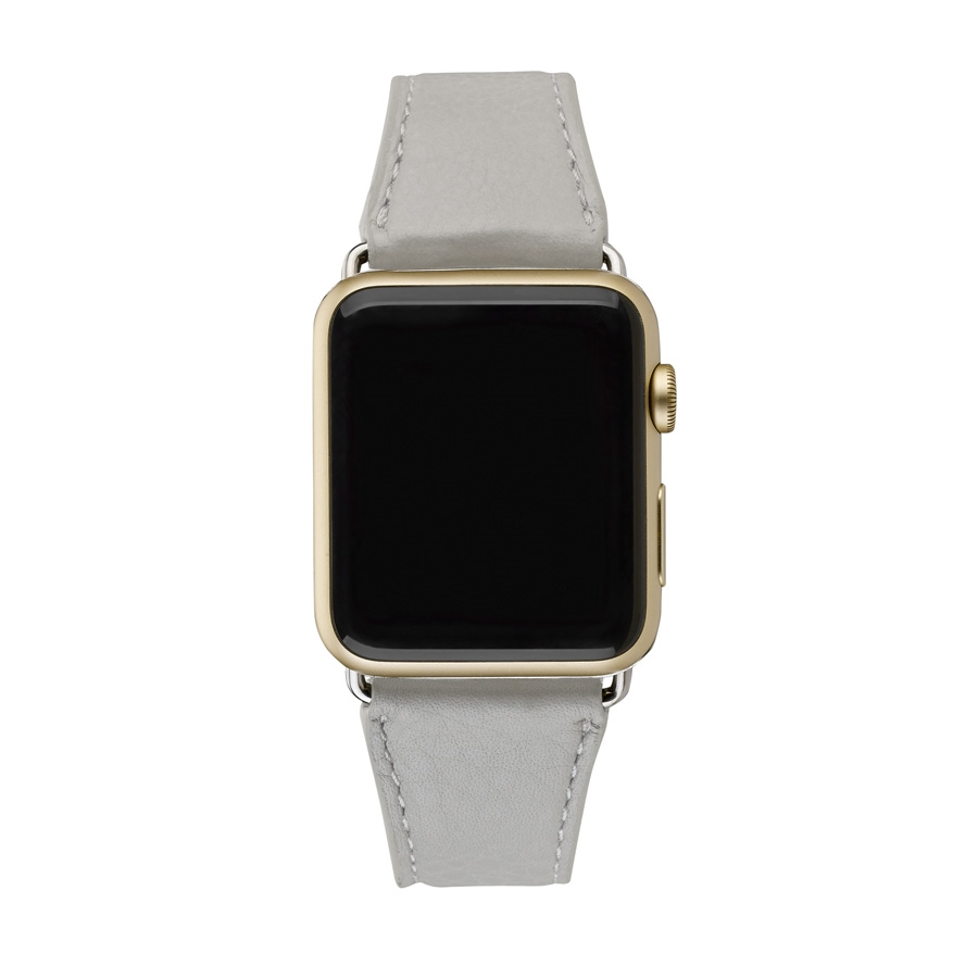 42mm Apple Watch Band Grey Pebble Grain AWS-42MS-LUX-GRY