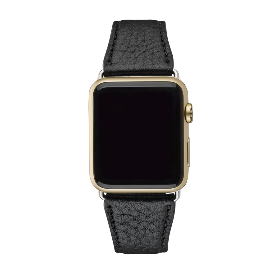 42mm Apple Watch Band Black Pebble Grain AWS-42MS-TIM-BLK