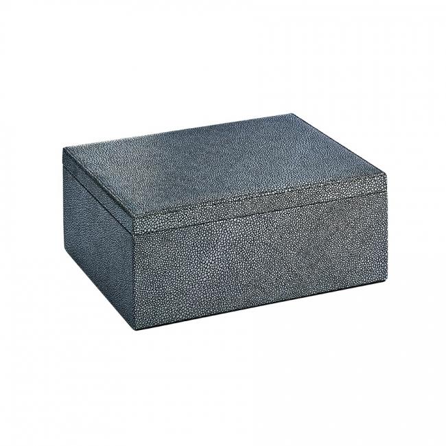 Large Box Shagreen Leather