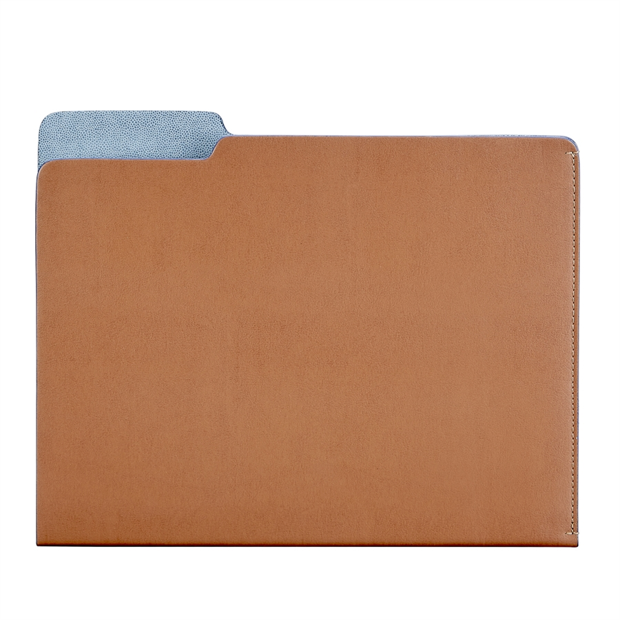 Carlo File Folder Tan Bonded Leather CAR-BND-TAN