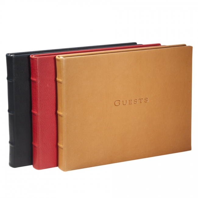 Guest Book  Traditional Leather