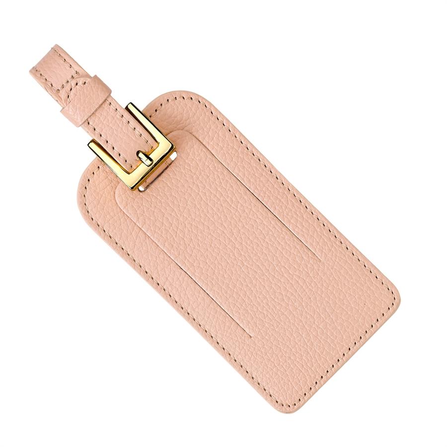 Luggage Tag   Blush Full Grain Leather LGT-FLO-BLS