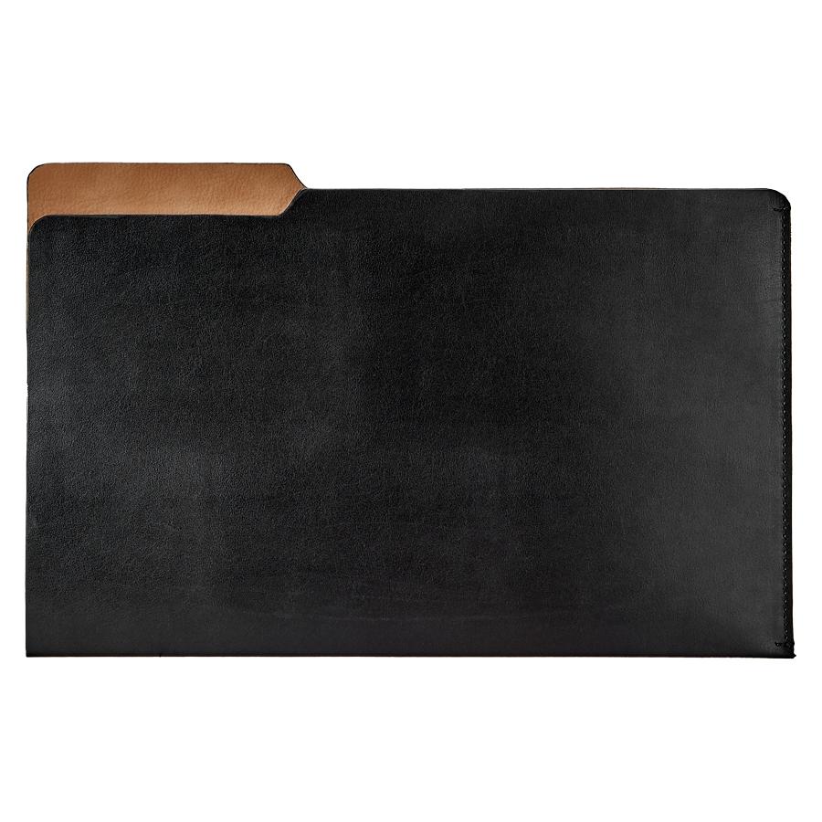 Luca Legal File Folder Black Bonded Leather LUC-BND-BLK