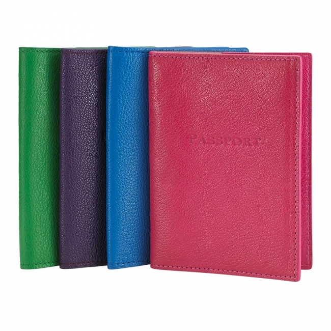 Passport Holder  Brights Leather
